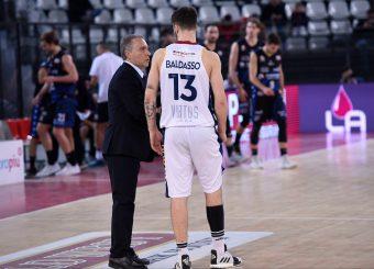 Piero Bucchi Tommaso Baldasso Virtus Roma - Benacquista Assicurazioni Latina Campionato Basket LNP 2018/2019 Roma 16/01/2019 Foto Gennaro Masi / Ciamillo-Castoria