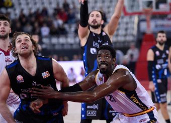 Valerio Cucci Henry Sims Virtus Roma - Benacquista Assicurazioni Latina Campionato Basket LNP 2018/2019 Roma 16/01/2019 Foto Gennaro Masi / Ciamillo-Castoria