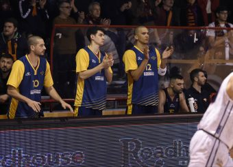 esultanza Daniele Sandri Leonis Roma - Virtus Roma Campionato Basket LNP 2018/2019 Roma 31/01/2019 Foto Gennaro Masi / Ciamillo-Castoria