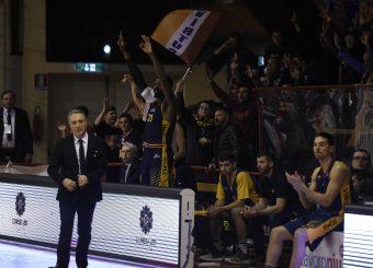 esultanza Henry Sims Leonis Roma - Virtus Roma Campionato Basket LNP 2018/2019 Roma 31/01/2019 Foto Gennaro Masi / Ciamillo-Castoria