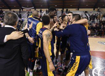 esultanza Virtus Roma Leonis Roma - Virtus Roma Campionato Basket LNP 2018/2019 Roma 31/01/2019 Foto Gennaro Masi / Ciamillo-Castoria