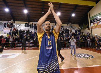 esultanza Massimo Chessa Leonis Roma - Virtus Roma Campionato Basket LNP 2018/2019 Roma 31/01/2019 Foto Gennaro Masi / Ciamillo-Castoria