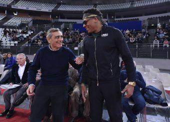 Claudio Toti David Hawkins Virtus Roma - Bertram Tortona Campionato Basket LNP 2018/2019 Roma 10/03/2019 Foto Gennaro Masi / Ciamillo-Castoria