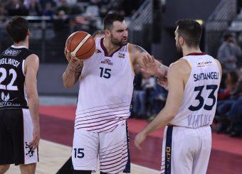 Aristide Landi Marco Santiangeli Virtus Roma - Bertram Tortona Campionato Basket LNP 2018/2019 Roma 10/03/2019 Foto Gennaro Masi / Ciamillo-Castoria