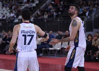 Roberto Prandin Aristide Landi Virtus Roma - Bertram Tortona Campionato Basket LNP 2018/2019 Roma 10/03/2019 Foto Gennaro Masi / Ciamillo-Castoria