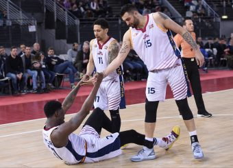 Henry Sims Nic Moore Aristide Landi Virtus Roma - Bertram Tortona Campionato Basket LNP 2018/2019 Roma 10/03/2019 Foto Gennaro Masi / Ciamillo-Castoria