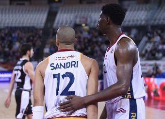 Daniele Sandri Henry Sims Virtus Roma - Bertram Tortona Campionato Basket LNP 2018/2019 Roma 10/03/2019 Foto Gennaro Masi / Ciamillo-Castoria