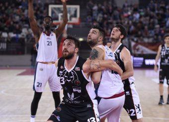 Klaudio Ndoja Aristide Landi Virtus Roma - Bertram Tortona Campionato Basket LNP 2018/2019 Roma 10/03/2019 Foto Gennaro Masi / Ciamillo-Castoria