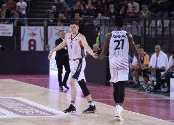 Amar Alibegovic Henry Sims Virtus Roma - Bertram Tortona Campionato Basket LNP 2018/2019 Roma 10/03/2019 Foto Gennaro Masi / Ciamillo-Castoria