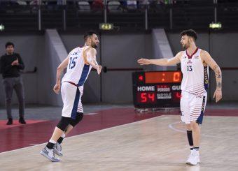 Aristide Landi Tommaso Baldasso Virtus Roma - Bertram Tortona Campionato Basket LNP 2018/2019 Roma 10/03/2019 Foto Gennaro Masi / Ciamillo-Castoria