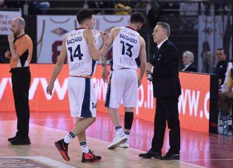 Andrea Saccaggi Piero Bucchi Virtus Roma - Bertram Tortona Campionato Basket LNP 2018/2019 Roma 10/03/2019 Foto Gennaro Masi / Ciamillo-Castoria