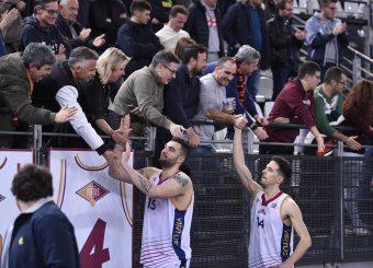 Aristide Landi Andrea Saccaggi Virtus Roma - Bertram Tortona Campionato Basket LNP 2018/2019 Roma 10/03/2019 Foto Gennaro Masi / Ciamillo-Castoria