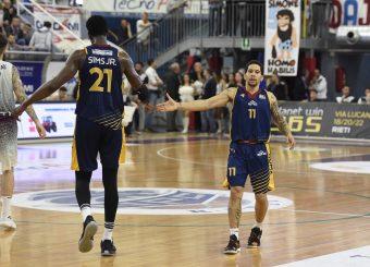 Henry Sims Nic Moore Zeus Energy Group Rieti - Virtus Roma Campionato Basket LNP 2018/2019 Rieti 17/03/2019 Foto Gennaro Masi / Ciamillo-Castoria