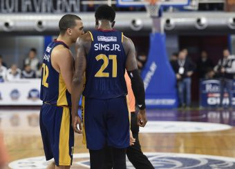 Daniele Sandri Henry Sims Zeus Energy Group Rieti - Virtus Roma Campionato Basket LNP 2018/2019 Rieti 17/03/2019 Foto Gennaro Masi / Ciamillo-Castoria