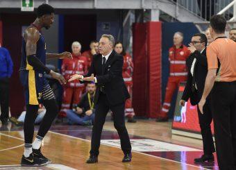 Henry Sims Piero Bucchi Zeus Energy Group Rieti - Virtus Roma Campionato Basket LNP 2018/2019 Rieti 17/03/2019 Foto Gennaro Masi / Ciamillo-Castoria