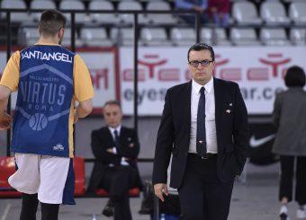 Daniele Michelutti Virtus Roma - M Rinnovabili Agrigento Campionato Basket LNP 2018/2019 Roma 31/03/2019 Foto Gennaro Masi / Ciamillo-Castoria