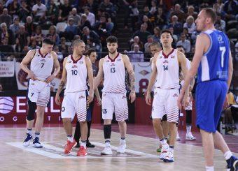 Massimo Chessa Tommaso Baldasso Andrea Saccaggi Virtus Roma - M Rinnovabili Agrigento Campionato Basket LNP 2018/2019 Roma 31/03/2019 Foto Gennaro Masi / Ciamillo-Castoria