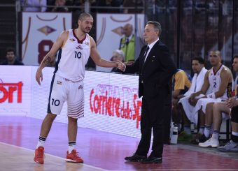 Massimo Chessa Piero Bucchi Virtus Roma - M Rinnovabili Agrigento Campionato Basket LNP 2018/2019 Roma 31/03/2019 Foto Gennaro Masi / Ciamillo-Castoria