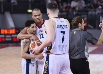 Nic Moore Daniele Sandri Amar Alibegovic Virtus Roma - M Rinnovabili Agrigento Campionato Basket LNP 2018/2019 Roma 31/03/2019 Foto Gennaro Masi / Ciamillo-Castoria