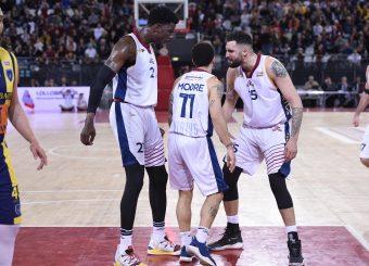 Henry Sims Nic Moore Aristide Landi Virtus Roma - Givova Scafati Campionato Basket LNP 2018/2019 Roma 14/04/2019 Foto Gennaro Masi / Ciamillo-Castoria