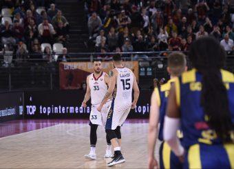 Marco Santiangeli Aristide Landi Virtus Roma - Givova Scafati Campionato Basket LNP 2018/2019 Roma 14/04/2019 Foto Gennaro Masi / Ciamillo-Castoria