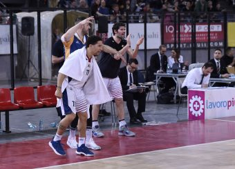 Nic Moore Roberto Prandin Virtus Roma - Givova Scafati Campionato Basket LNP 2018/2019 Roma 14/04/2019 Foto Gennaro Masi / Ciamillo-Castoria