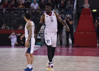 Nic Moore Henry Sims Virtus Roma - Givova Scafati Campionato Basket LNP 2018/2019 Roma 14/04/2019 Foto Gennaro Masi / Ciamillo-Castoria