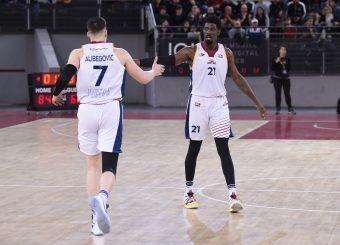 Amar Alibegovic Henry Sims Virtus Roma - Givova Scafati Campionato Basket LNP 2018/2019 Roma 14/04/2019 Foto Gennaro Masi / Ciamillo-Castoria
