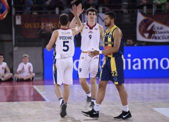 Daniel Spizzichino Edoardo Lucarelli Virtus Roma - Givova Scafati Campionato Basket LNP 2018/2019 Roma 14/04/2019 Foto Gennaro Masi / Ciamillo-Castoria