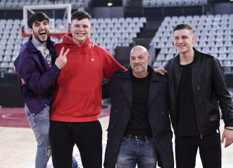 Giacomo Ferrara Amar Alibegovic Filippo Nigro Virtus Roma - Givova Scafati Campionato Basket LNP 2018/2019 Roma 14/04/2019 Foto Gennaro Masi / Ciamillo-Castoria