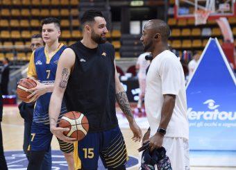 Aristide Landi Kenny Hasbrouck Lavoropiu Fortitudo Bologna - Virtus Roma Campionato Basket LNP 2018/2019 Bologna 01/05/2019 Foto Gennaro Masi / Ciamillo-Castoria