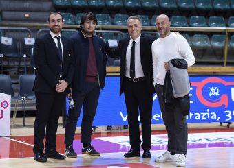 Francesco Carotti Alessandro Toti Piero Bucchi Valerio Spinelli Lavoropiu Fortitudo Bologna - Virtus Roma Campionato Basket LNP 2018/2019 Bologna 01/05/2019 Foto Gennaro Masi / Ciamillo-Castoria