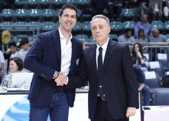 Antimo Martino Piero Bucchi Lavoropiu Fortitudo Bologna - Virtus Roma Campionato Basket LNP 2018/2019 Bologna 01/05/2019 Foto Gennaro Masi / Ciamillo-Castoria