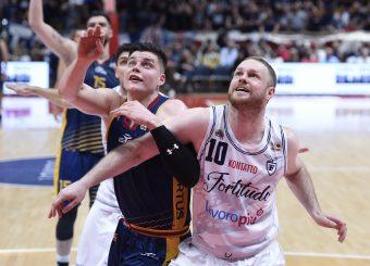 Amar Alibegovic Maarty Leunen Lavoropiu Fortitudo Bologna - Virtus Roma Campionato Basket LNP 2018/2019 Bologna 01/05/2019 Foto Gennaro Masi / Ciamillo-Castoria