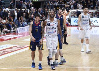 Nic Moore Kenny Hasbrouck Lavoropiu Fortitudo Bologna - Virtus Roma Campionato Basket LNP 2018/2019 Bologna 01/05/2019 Foto Gennaro Masi / Ciamillo-Castoria