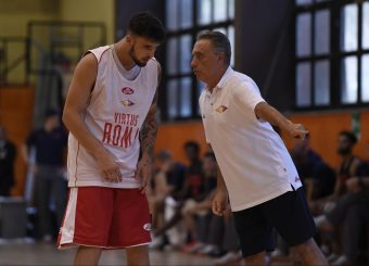Tommaso Baldasso Piero Bucchi Virtus Roma - Syracuse University Amichevole Roma, 18/08/2019 Foto Gennaro Masi / Ciamillo - Castoria