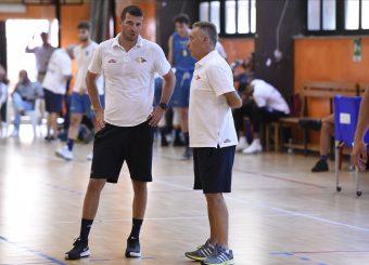 Fabrizio Santolamazza Piero Bucchi Virtus Roma - Scafati Basket Amichevole Roma, 25/08/2019 Foto Gennaro Masi / Ciamillo - Castoria