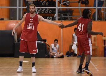 Giovanni Pini Davon Jefferson Virtus Roma - Scafati Basket Amichevole Roma, 25/08/2019 Foto Gennaro Masi / Ciamillo - Castoria
