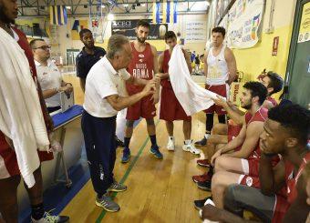 BUCCHI TIME OUT  Parma 15.09.2019 Torneo amichevole Memorial Bertolazzi Virtus Roma- Senkur Foto GiulioCiamillo/Ciamillo