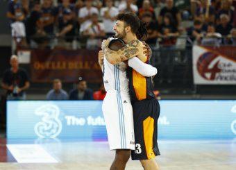 Brown John Baldasso Tommaso Virtus Roma - Happy Casa Brindisi Lega Basket Serie A 2019/2020 Roma, 29/09/2019 Foto Alfredo De Lise / Ciamillo-Castoria