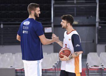 Cattapan Riccardo Baldasso Tommaso Virtus Roma - Happy Casa Brindisi Lega Basket Serie A 2019/2020 Roma, 29/09/2019 Foto Gennaro Masi / Ciamillo-Castoria