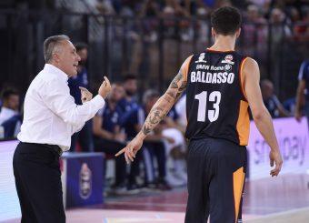 Bucchi Piero Baldasso Tommaso Virtus Roma - Happy Casa Brindisi Lega Basket Serie A 2019/2020 Roma, 29/09/2019 Foto Gennaro Masi / Ciamillo-Castoria