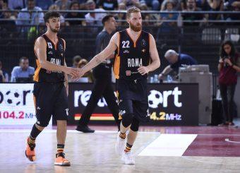 Baldasso Tommaso Pini Giovanni Virtus Roma - Happy Casa Brindisi Lega Basket Serie A 2019/2020 Roma, 29/09/2019 Foto Gennaro Masi / Ciamillo-Castoria
