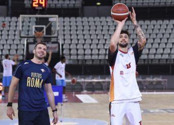 Baldasso Tommaso Santolamazza Fabrizio Virtus Roma - Vanoli Cremona Lega Basket Serie A 2019/2020 Roma, 06/10/2019 Foto Gennaro Masi / Ciamillo-Castoria