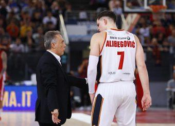 Bucchi Piero Alibegovic Amar Virtus Roma - AX Armani Exchange Milano Legabasket Serie A 2019-20 Roma, 27/10/2019 Foto Ciamillo-Castoria