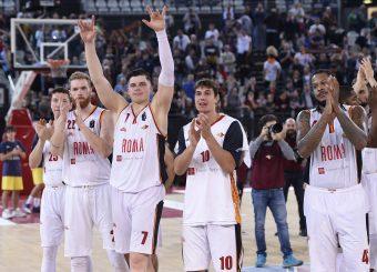esultanza Virtus Roma Virtus Roma - Fortitudo Pompea Bologna Lega Basket Serie A 2019/2020 Roma, 20/10/2019 Foto Gennaro Masi / Ciamillo-Castoria