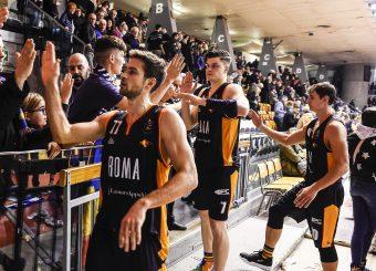 Pini Giovanni Kyzlink Tomas Dyson Jerome Cusenza Kevin Grissin Bon Reggio Emilia - Virtus Roma Lega Basket Serie A 2019/2020 Reggio Emilia, 29/12/2019 Foto A.Giberti / Ciamillo - Castoria