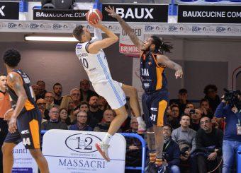 Gaspardo Raphael Happy Casa Brindisi - Virtus Roma Legabasket Serie A 2019-2020 Brindisi febbraio 2020 Foto Ciamillo