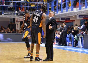 Bucchi Piero Jefferson Davon Dyson Jerome Happy Casa Brindisi - Virtus Roma Legabasket Serie A 2019-2020 Brindisi febbraio 2020 Foto Ciamillo