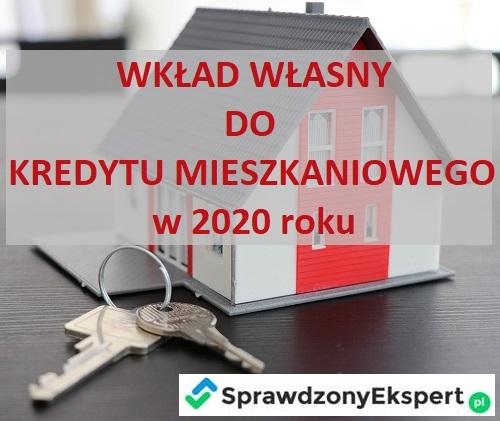 Wkład własny do kredytu mieszkaniowego w 2020 roku